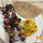 Steak Fajita Kebabs with Cilantro Pesto