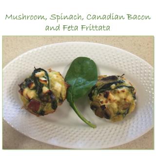 Mushroom, Spinach, Canadian Bacon and Feta Frittata