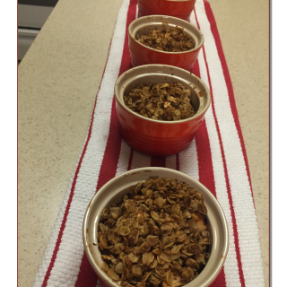 Individual Apple, Cranberry, and Walnut Crisps