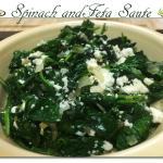 Spinach and Feta Saute