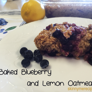 Baked Blueberry and Lemon Oatmeal