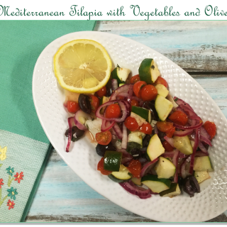Mediterranean Tilapia with Vegetables and Olives