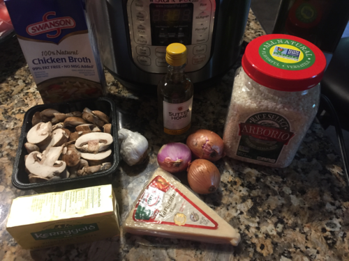 Ingredients for Mushroom and Garlic Risotto