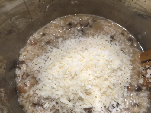 Stir in Parmesan cheese