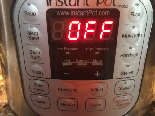 Turn the Instant Pot off.