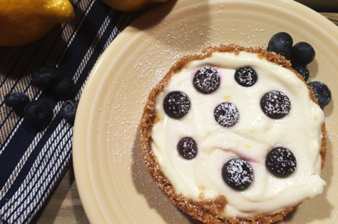 Instant Pot Mini Blueberry Lemon Cheesecakes