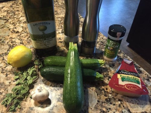 Ingredients for Garlic Lemon Parmesan Zucchini