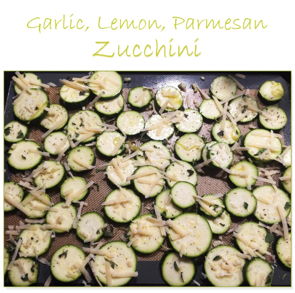 Garlic Lemon Parmesan Zucchini