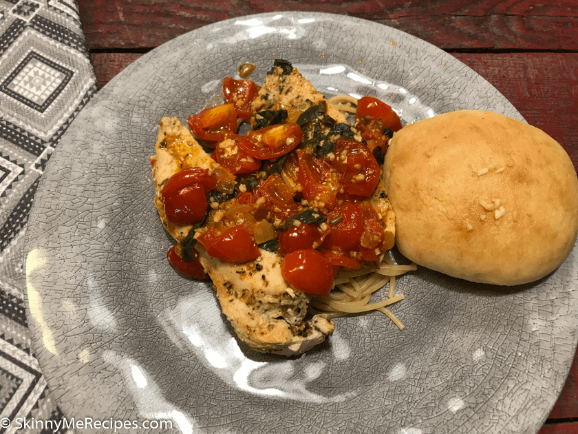 Tomato Garlic and Basil Chicken